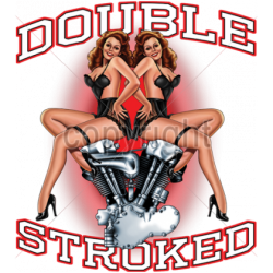 Double Stroked Harley...