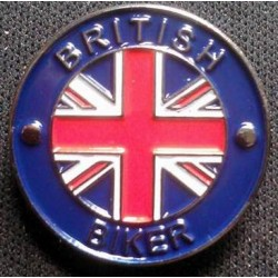 BRITISH BIKER -  Pin Badge...