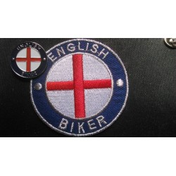ENGLISH BIKER PATCH AND PIN...