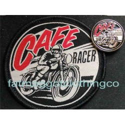 CAFE RACER PATCH AND PIN -...