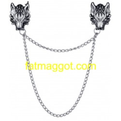Wolf with chains