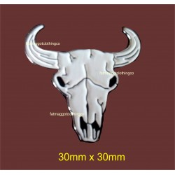 Cattle Skull Pin Badge...