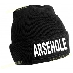 Rude Beanie Hat  Arsehole