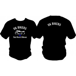 UK Bikers T Shirt Front Print