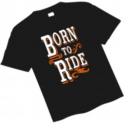 BORN TO RIDE KIDS T SHIRT
