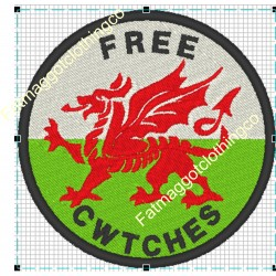 Free Cwtches Embroidered Patch
